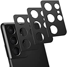 LORDSON [3-Pack] Camera Lens Protector Compatible with Samsung Galaxy S21 Ultra, Aluminum Alloy Camera Protectors Anti-Scratch Protective Lens Cover Metal Frame Coverage for Galaxy S21 Ultra Phone