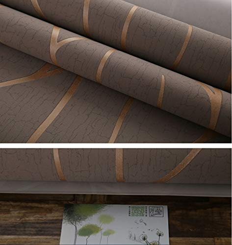 European Non-woven Tapete Simple Stripe Curve 3d Stereo Bedroom Living Room Tv Background Wall Paper Braun