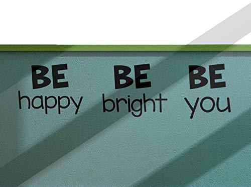 BE Happy BE Bright BE You Sticker mural en vinyle pour porte de salle de classe primaire