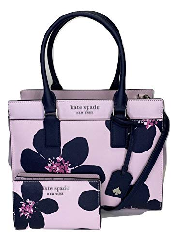 Kate Spade New York Cameron Medium Satchel bundled with matching Bifold Wallet (Grand Flora Serendipity)