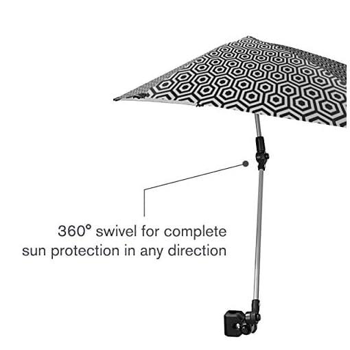 Adjustable Umbrella with Universal Clamp Easy to Adjust SPF 50