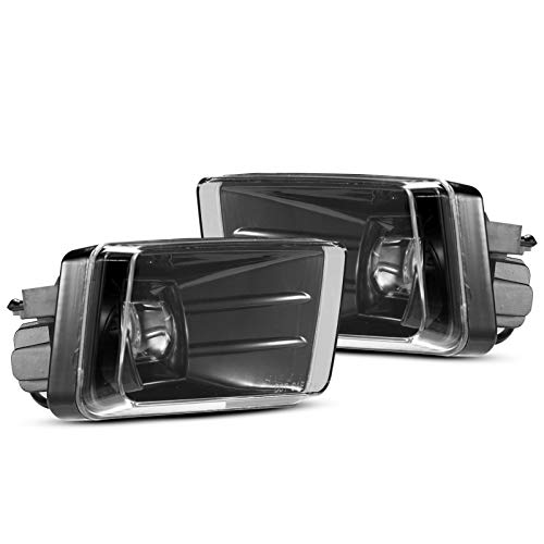LED Fog Lights Assembly Kit, BUNKER INDUST 5202 w/ Bulbs Compatible with Chevy Silverado...