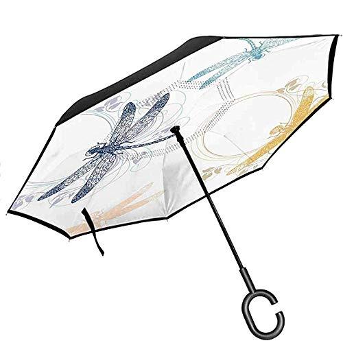 Gekritzel-Rückseiten-Regenschirm-Sammlung Hundekatzen-niedliche Tier-Spaß-glückliche Wesen-Karikatur inspiriert