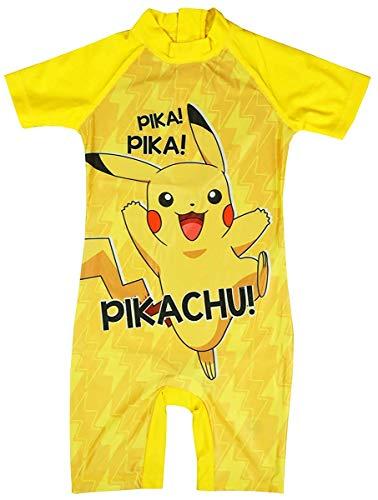 Krijg Wivvit Jongens Pokemon Pikachu Kostuum Sunsafe Alle in een Surf Badpak Maten van 1,5 tot 5 Jaar