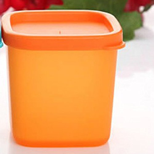 Mini Dippers Small Dip, Condiment, or Sauce Containers, Leak-Resistant, Set of 1,3,6 Optional (1, orange)