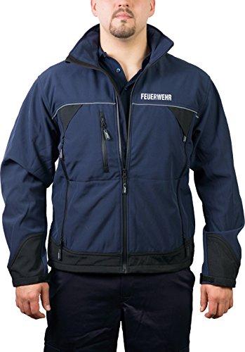 feuer1 Softshelljacke Feuerwehr, Wind- und wasserdicht, hochatmungsaktiv, Reflex