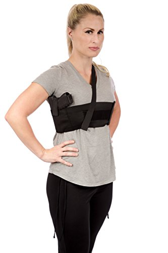CCW Tactical Shoulder Holster for Deep Concealment Underarm Gun Holster for Men and Women, Fits Most Handguns, Black, M, LH Draw, Holster Under Right Arm