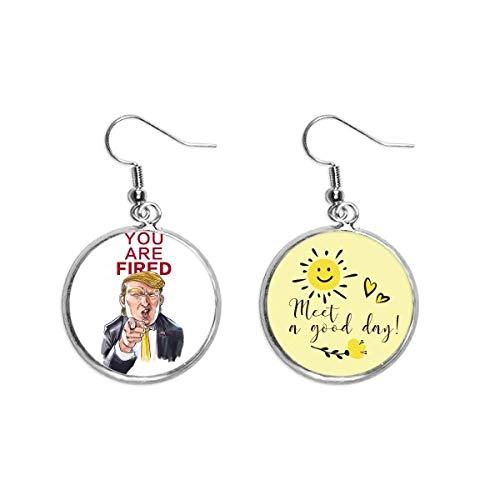 Interesante Presidente Americano Gran Imagen Oído Gota Sol Flor Pendiente Joyería Moda