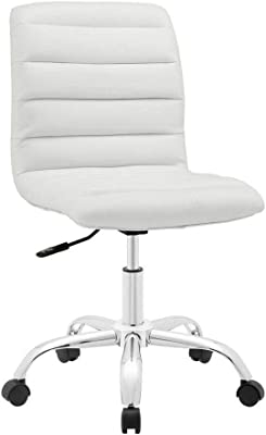 DuraComf Height Adjustable Swivel Home Office Desk Chair (White) with 12 Months Warranty (Without Back Tilt)