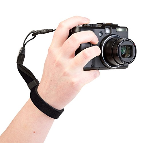 OpTech 1801021 Cam-Strap QD Wrist Strap for Compact Camera, Black