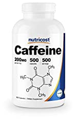 200mg of Caffeine Per Capsule Get Caffeine Without the Added Sugar or Calories Found In Energy Drinks 1 Serving: Just 1 Capsule, Do Not Exceed 2 Capsules In a 24Hr Period Non-GMO, Gluten Free, Sugar Free Made in a GMP Compliant, FDA Registered Facili...