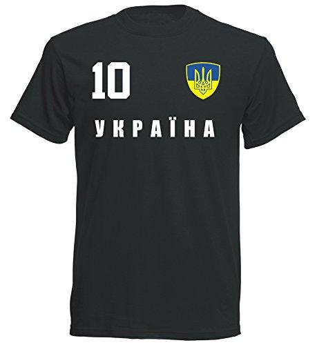 aprom - Ukraine Kinder T-Shirt Trikot ALL-10 SC - WM 2018 Fußball (164)