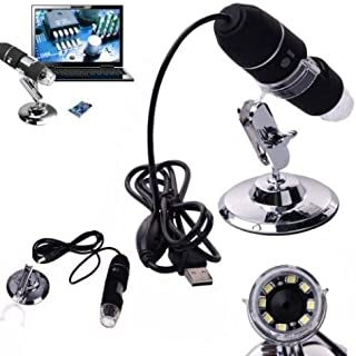 Asier 1000x 2MP 8 LED USB Portable Digital Microscope / Dermascope / Endoscope Zoom Camera Magnifier +Stand (Windows 8 - 1000x)
