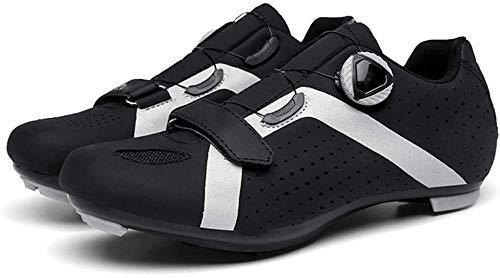 WYUKN Zapatillas de Ciclismo para Hombre Zapatillas de Ciclismo de Carretera para Mujer Zapatillas de Bicicleta de Montaña Zapatillas de Ciclismo,Black-44EU=(270mm)