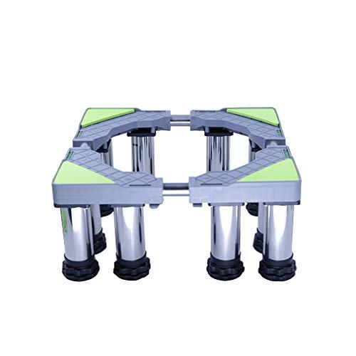Soporte De Base De ElectrodoméSticos In Acero Inoxidable RetráCtil Soporte Lavadora Largo/Ancho 45-65cm Pedestal y Marco para Neveras AntivibracióN De Bajo Ruido - 400kg