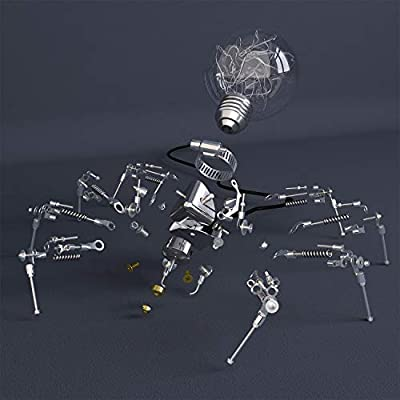 WOWLEO Robot Light Kit, DIY Spider Light Building Block for Kids Age 10+, Intelligent and Educational STEAM Toy