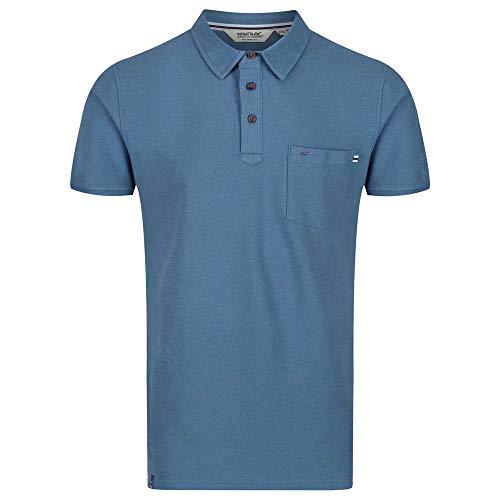 Regatta Polo 100% Coton Barley boutonné au Cou et avec Une Poche Poitrine T-Shirts Vests Homme, Stellar, FR : S (Taille Fabricant : S)