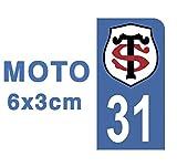 Générique Autocollant Stickers Plaque immatriculation Scooter Moto 31 Club Stade Toulousain Rugby Bleu