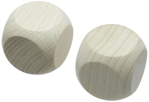 efco Holzwürfel, Holz, Braun, 10 x 10 x 6 cm