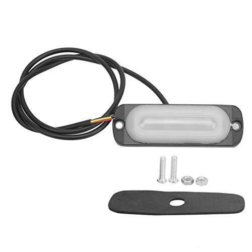 Lámpara estroboscópica de coche, 12V 4LED ABS de aluminio intermitente de emergencia luz amarilla luz de advertencia de señal para coche, motocicleta, camión, furgoneta
