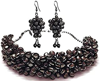 Total Fashion Oxidized Silver and Choker Necklace Set for Women & Girls