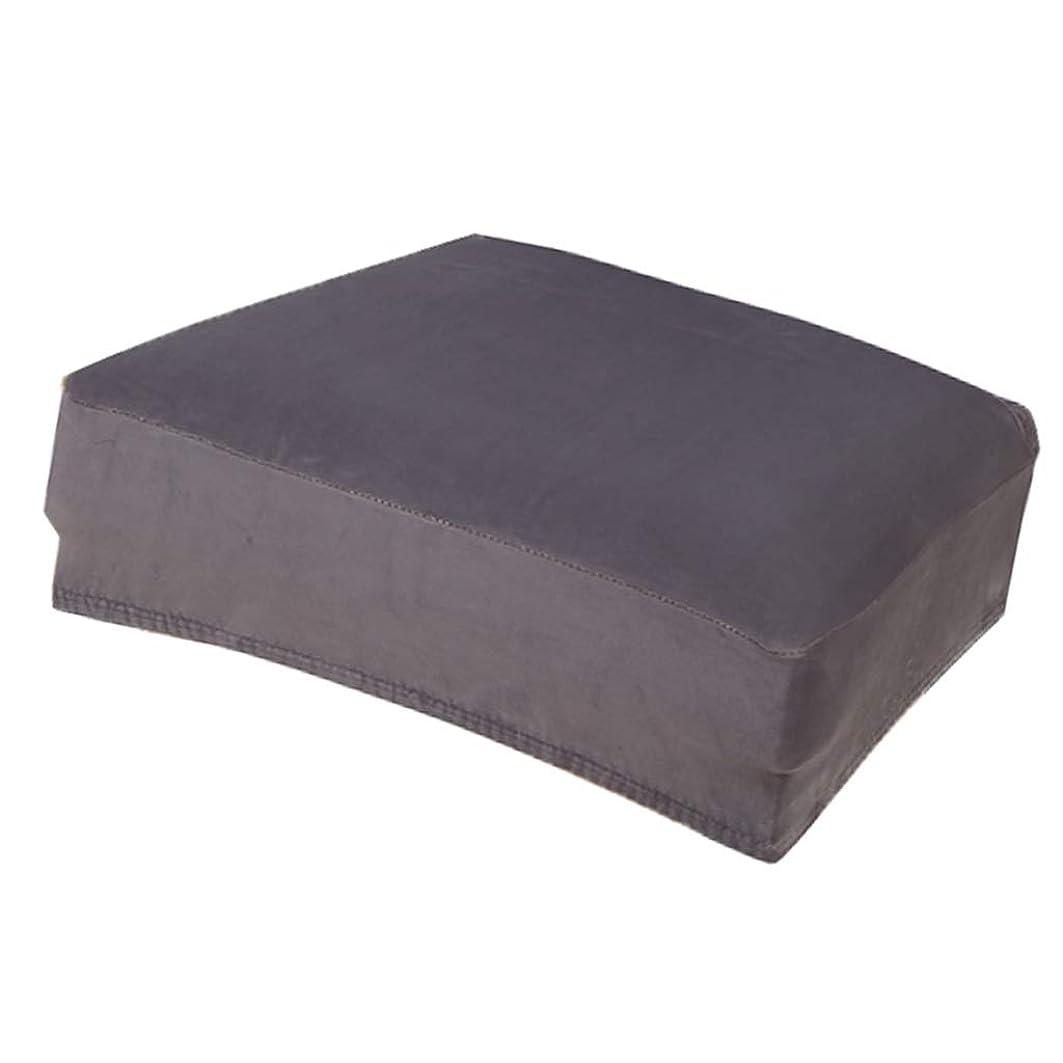 敬なエイリアンハーブF Fityle チェアカバー 椅子カバー ストレッチチェアカバー 座面カバー 伸縮素材 滑り止め 天鵞絨 全12色 - グレー