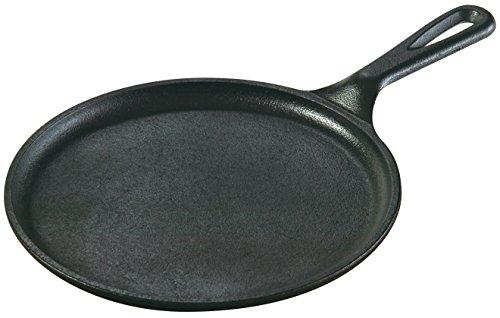 Lodge L6OG3 8.38 in Cast Iron Round Griddle, Black