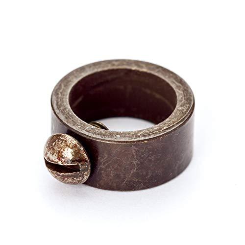 Stellring Messing für Rohr Ø 10 mm seitlich Feststellstellschraube/veredelt Stellschraube Schraube Ring antik altmessing patina