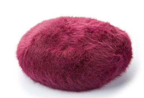 Insun Insun Damen Hut Baskenmütze Barett Winter Flauschig Beanie Damen Mütze Rot