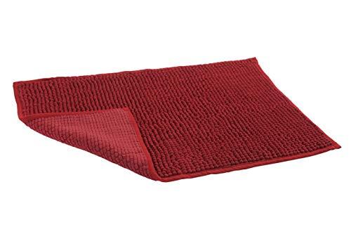 HomeLife Moderne badmat van chenille, extra zacht en super absorberend [50 x 80] / [60 x 120], badmat kort, badmat modern met rubberen vloer, machinewasbaar