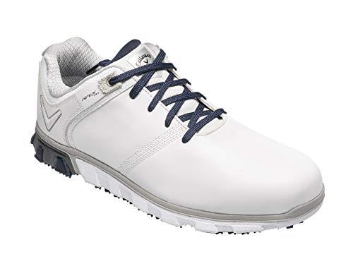 Callaway Herren Apex Pro Waterproof Spikeless Golfschuhe, Weiß (White/Navy White/Navy), 44.5 EU