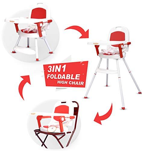 Little pumpkin Kiddie Kingdom 3 in 1 Foldable High Chair (Red) -