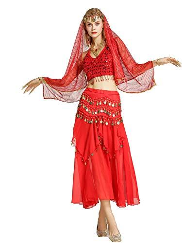 Zengbang Mujere Set Traje Baile Camisola Crop Top