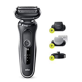 Braun Electric Razor for Men Series 5 5050cs Electric Foil Shaver with Precision Beard Trimmer Body Groomer Rechargeable Wet & Dry with EasyClean and Charging Stand