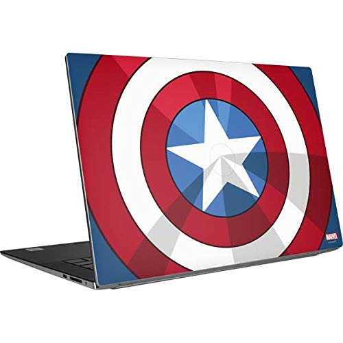 Skinit Decal Laptop Skin Compatible with Dell XPS 15 9500 (2020) - Officially Licensed Marvel Captain America Emblem Design