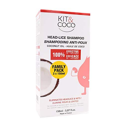 KIT & COCO Shampooing Traitant Anti-Poux et Lentes (300ml)