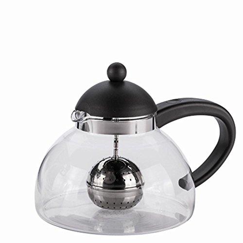 CREATIVE TOPS Randwyck Teekanne, Glas, für 12Tassen, mit Tee-Ei zum Aufhängen, Mehrfarbig