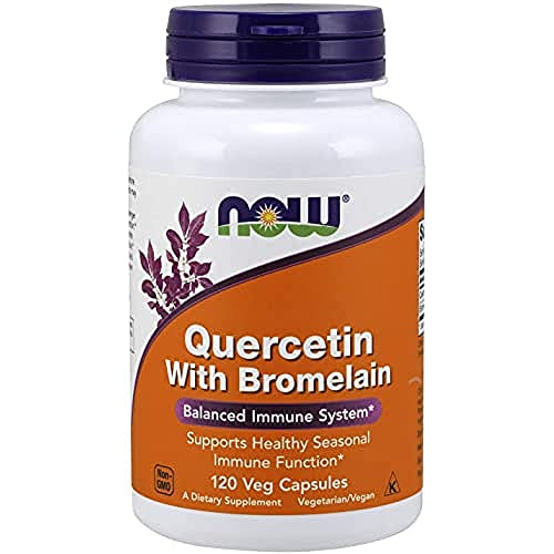 NOW Foods Supplements, Quercetin with Bromelain, Balanced Immune System, 120 Veg Capsules