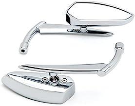 Anzene Grim Reaper Universal Custom Motorcycle Cruiser Mirrors - Chrome Free Adapters Custom Rear View Mirrors (Chrome)