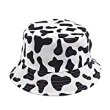 XPT Sombreros De Mujer Lindo Patrón De Estampado De Panda Al Aire Libre Gorra De Cubo Reversible De Doble Cara Sombrero para El Sol para Niñas Compras, Citas, Viajes Vaca
