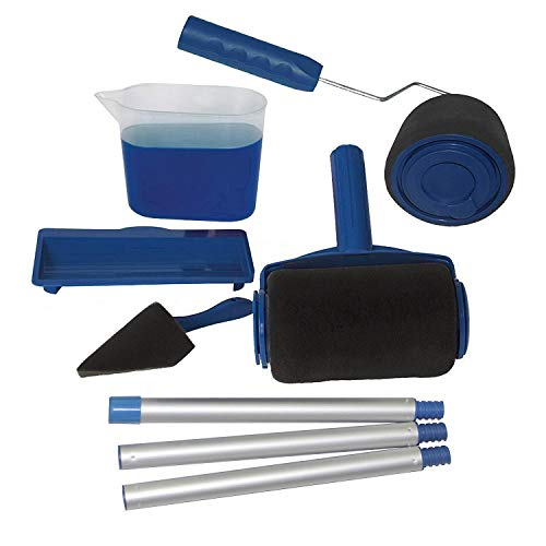 Syst/ème de peinture sans gouttes Saiko 6 pcs//set rouleau de peinture kit Extension de peinture 6