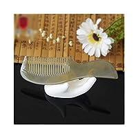 ヘアカッティングツール女性のための Fashian繊細な手づくりナチュラルバッファローホーン櫛魚の形は美くしハンドル (Color : 5584)