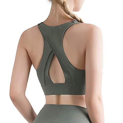 Cwang Pack Comodidad Sujetador Mujer niña Sujetador Superior sin Costuras Dormir Yoga Chaleco elástico,Gris Verdoso,M