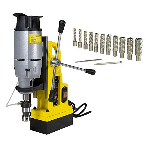 Steel Dragon Tools MD45 Magnetic Drill Press with 7PC 2in. HSS Annular Cutter Kit