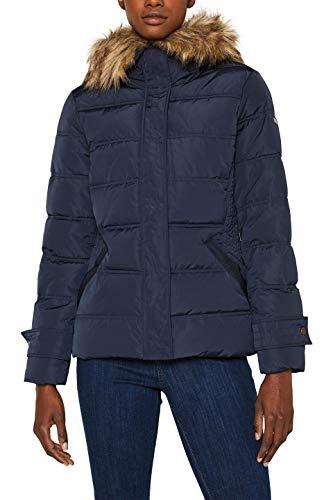 ESPRIT Damen 099Ee1G003 Jacke, Blau (Navy 400), Medium (Herstellergröße: M)