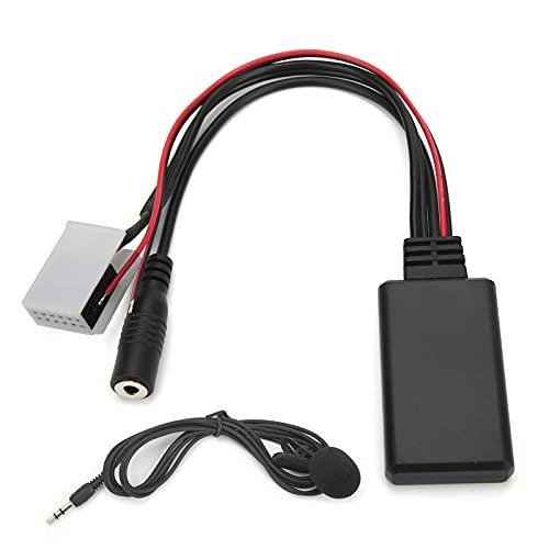 Akozon Kit de Coche Bluetooth Adaptador AUX de 12 Pines con Cableado de micrófono de 59,1 Pulgadas