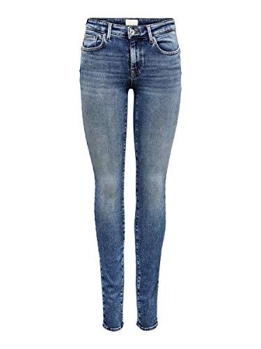 ONLY Damen Onlroyal Reg Skinny Pim504 Noos Jeans, Medium Blue Denim, 32