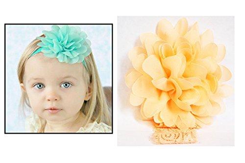 Bandeau dentelle cheveux fille Enfant & Bébé Fleur pompom Saumon