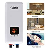 240V 5.5KW Instant Electric Hot Tankless Water Heater 3 Power Levels for Bathroom Kitchen RV Camping