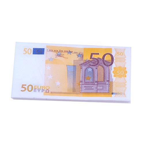 Moneda Tejido Dólar estadounidense Euro Color Servilleta Creativo Divertido Papel Billete Tejido fluido línea diseño inodoro toalla de moda 1 pcs